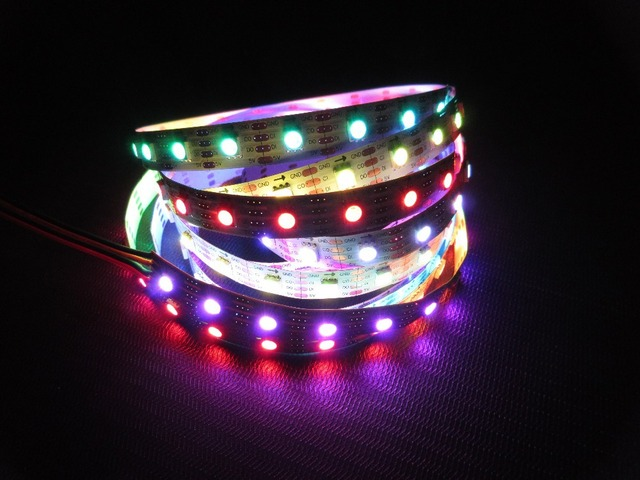 New Arrival 5M APA102 Led strip Light 60LED/M Black PCB WS2801 Updated Version Addressable DC 5V IP20 Non-waterproof