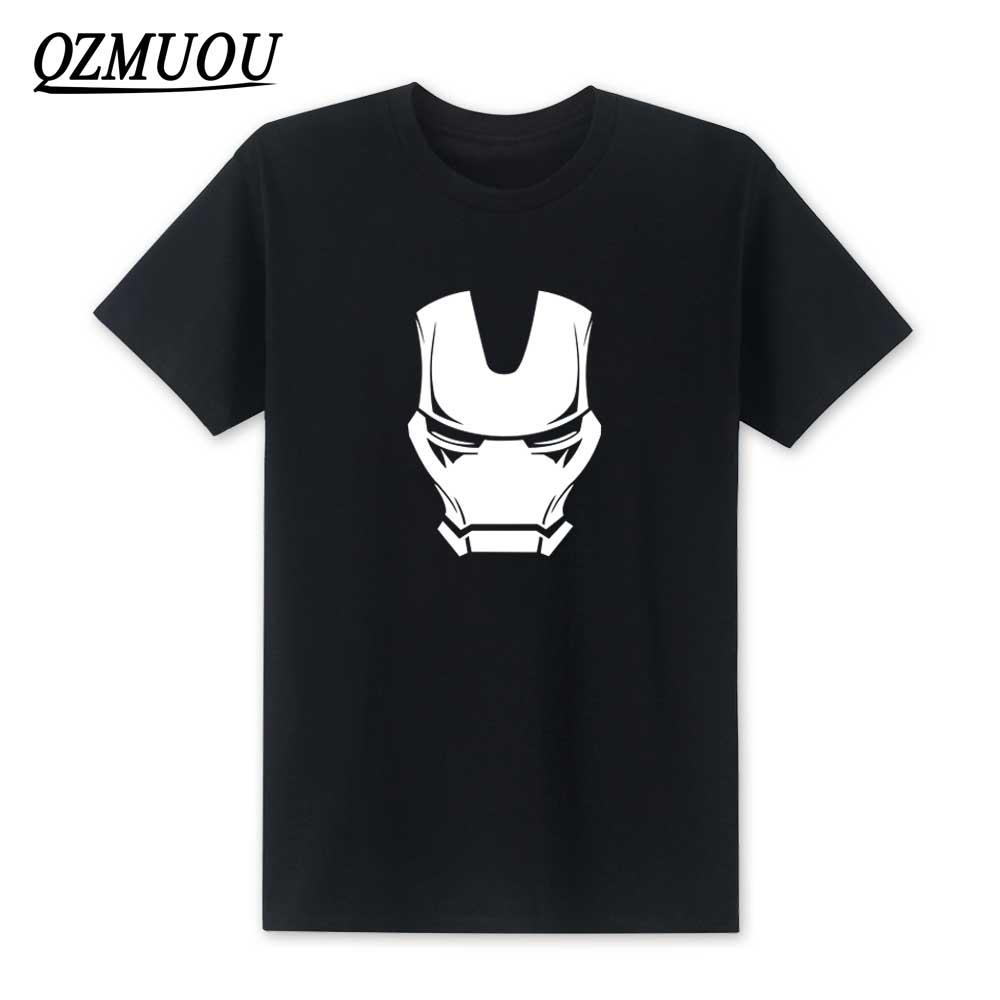 2018 New Fashion Ironman Mask T Shirt Men Short Sleeve Cotton O-neck Super hero Iron Man's T-shirt Top High Quality Size XS-XXL