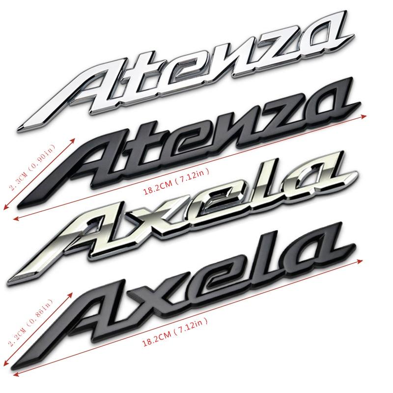 For Mazda Atenza Emblem Badge sticker Mazda 6 626 Mazdaspeed Miata trunk