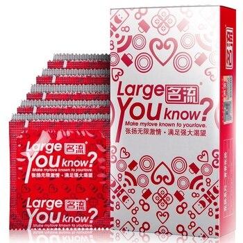 100 pcs Tamanho Grande Preservativo de Látex Natural Suave Lubrificante Produtos Adultos Do Sexo Preservativos Para Homens Segurança Contracepção Paus Tolera