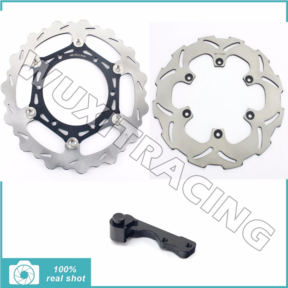 Oversize 270MM Front Rear Brake Disc Rotor Bracket Adaptor for SUZUKI RM 125 250 RM125 RM250 96-2012 97 98 99 00 01 02 03 04 05 fit for rm 125 00 09 rm250 00 01 02 03 04 05 06 07 08 09 10 11 12 front rear brake disc rotor bracket bracket oversize 320mm