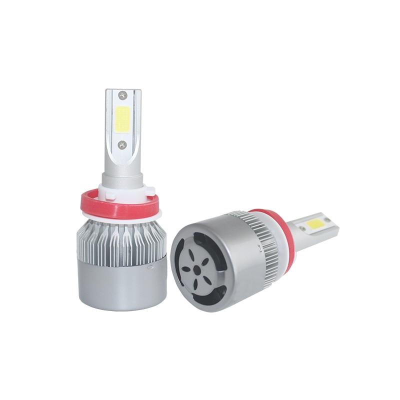 72W 8000lm H11 H4 H7 LED cob Car Automotives Լուսարձակող - Ավտոմեքենայի լույսեր - Լուսանկար 4