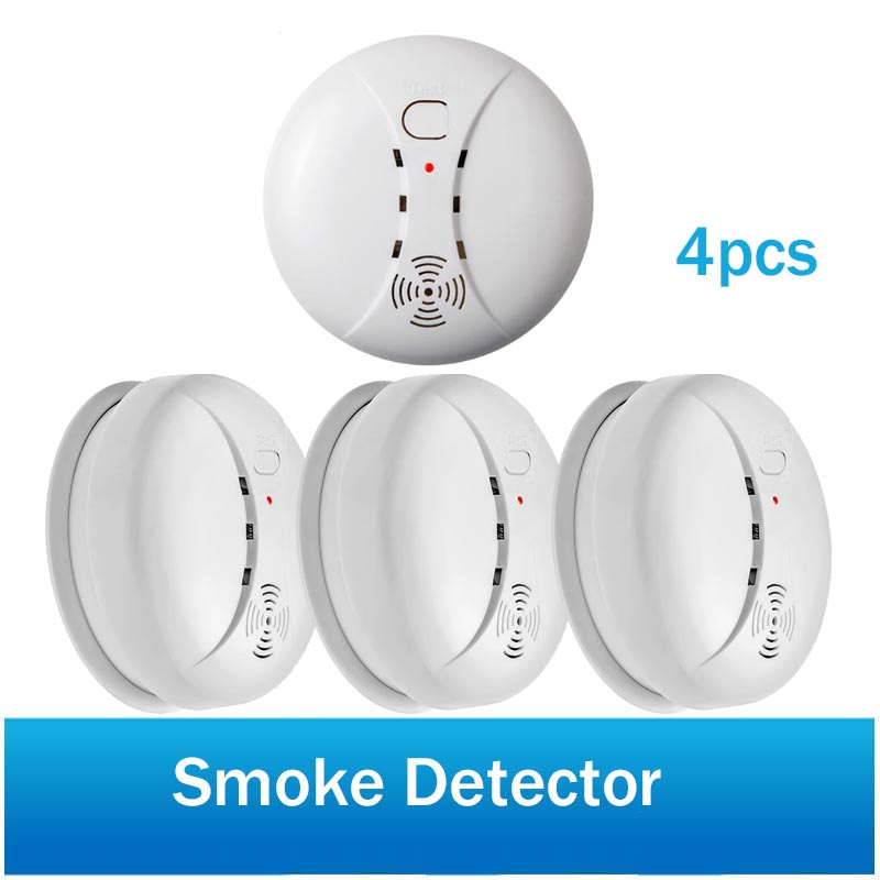 Wireless Fire Protection Smoke Detector 433MHz For Home Security Alarm System Portable Alarm Sensors