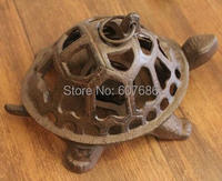 2 Pcs Lot Cast Iron Turtle Candle Holder Rustic Metal Wrought Iron Country Rural Home Wall