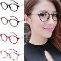 Ретро cintage тонкий храм металла круглые очки кадр стильный основные модные женщины очки рамки Очки