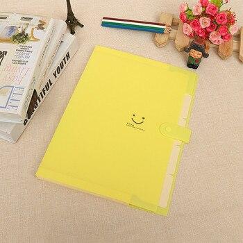 2019 High Quality Waterproof Office Plastic Folders Multi Pocket Organizer A4 File Expansion Document Folder Binder Portable