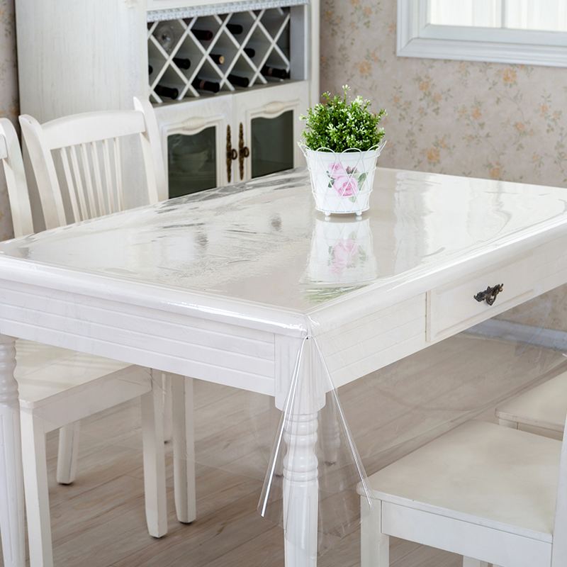Soft Ultra thin Drooping Plastic glass PVC transparent tablecloth waterproof Table mat Party table Protective film Placemat in Tablecloths from Home Garden