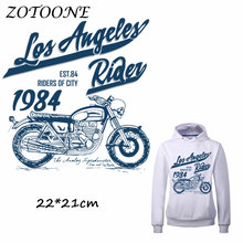 ZOTOONE 1984 Motorcycle Bike Patch for Clothing Iron-On Garment Heat Transfer Badges Diy Accessory T Shirt Deco Applique Patches