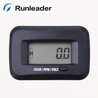 Runleader Snap On Hour Meter Tachometer Voltmeter Voltage Gauge For Gas Engine 2 4 Stroke Lawn