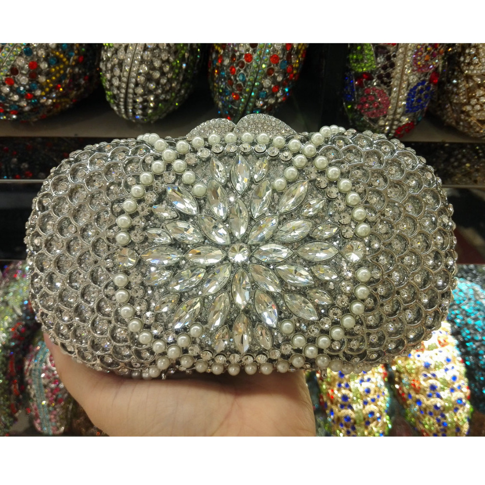Women Evening Bags Ladies Wedding  Diamonds  Party Bag Crystal Gold Clutch Ladies Crystal Purses new fashion women minaudiere fashion evening bags ladies wedding party floral clutch bag crystal diamonds purses smyzh e0122
