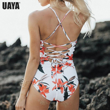 2019 sexy swimsuit one piece may XXL plus large size color block wire free halter girl women swimwear beach dress bathing suit sexy triangle bikini set women s xxl large size biquini padded wire free swimwear women swimming suits may female beach outing