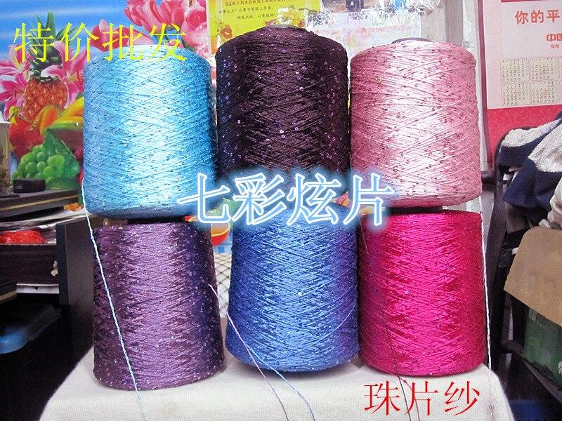 Knitting Yarn Aliexpress : Top grade popular sequins yarn g lot fashion thread