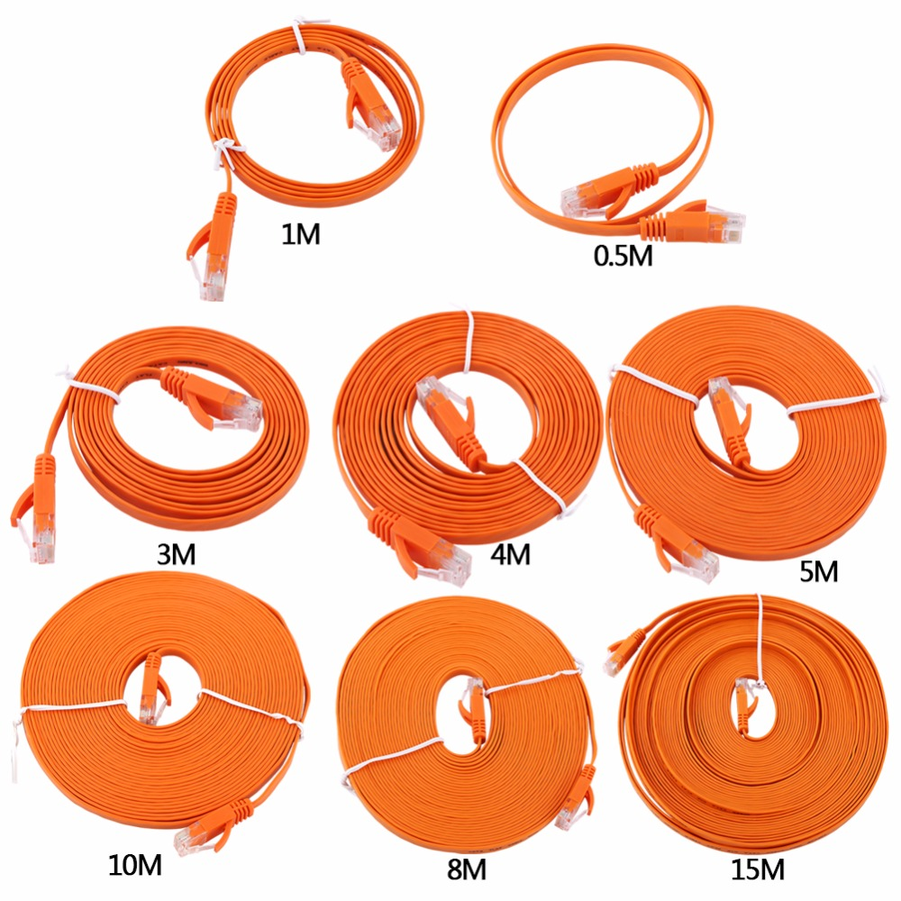 Rj45 Cat6 Cable Ethernet Network Flat Lan Utp Patch Router 4m Cat5e Cat 5e Lead Wire Cables 05m 1m 2m 3m 5m 3 Colors For Gigabit In From
