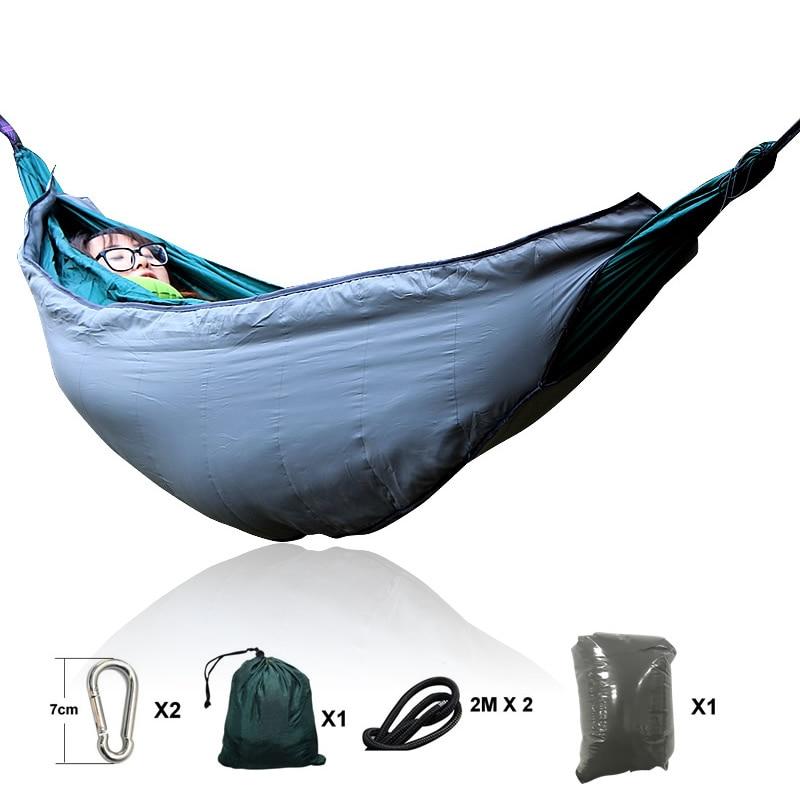 Autumn and winter outdoor sleeping bag hammock down warm hammock double zipper closed temperature