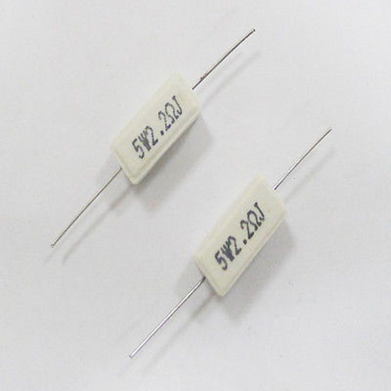10x 5w Watt 2r2 2 2 Ohm 5 Ceramic Cement Power Resistor