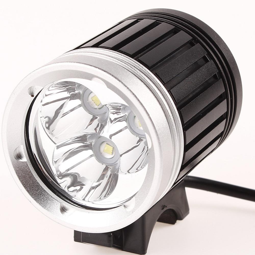 Waterproof 3x XML T6 font b LED b font Cycling Bike Bicycle Light Head front Lights