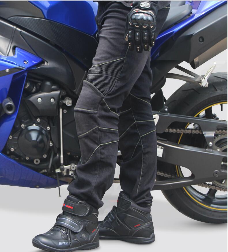 Tribe Tribe Motosiklet Şalvar kişi və qadın elastis jeans Racing - Motosiklet aksesuarları və ehtiyat hissələri - Fotoqrafiya 1