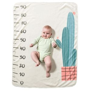 Baby Blanket Newborn Warm Square Plant Photography Photo Background Milestone Blankets Sleep Carpet Soft Flannel 70x102cm