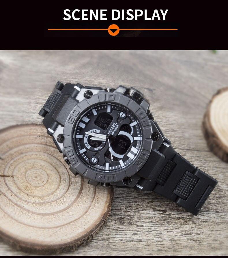 relógio masculino masculino relogio hodinky relógio de pulso à prova ddual água