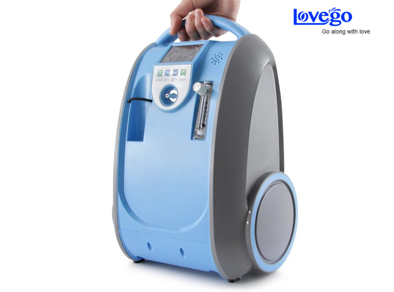 Two batteries 1-5LPM Lovego portable oxygen concentrator/oxygen generator/mini concentrator LG101 for COPD/home/travel/car use 32w oxygen concentrator machine portable oxygen generator 3l min low noise