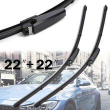 For Audi A4 B6 B7 S4 RS4 A6 C5 2pcs 22 Front Window Windshield Wiper Blade High Grade Natural Rubber Wiper Mayitr new arrival 2pcs 22 universal front window windshield wiper blade for audi a4 s4 a6 c6