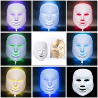 7 Colors 3D LED Photon Facial Mask, Face Care machine Treatment Beauty Anti Acne Therapy Whitening Skin Tighten
