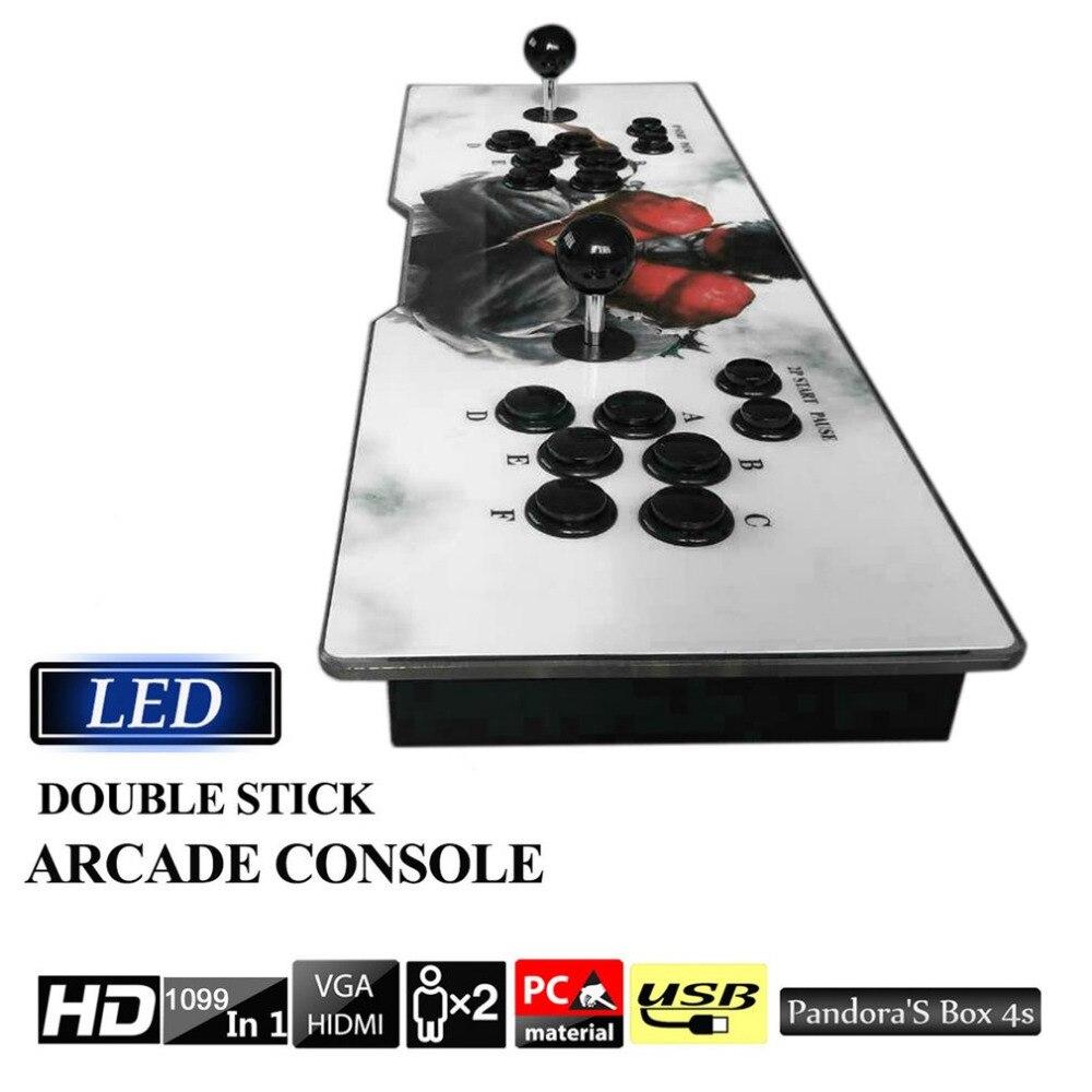 Professionnel multi-jeux 1099 Vidéo Jeux en 1 Boite Familiale Maison Console D'arcade Vintage Gamepad avec Double Joystick