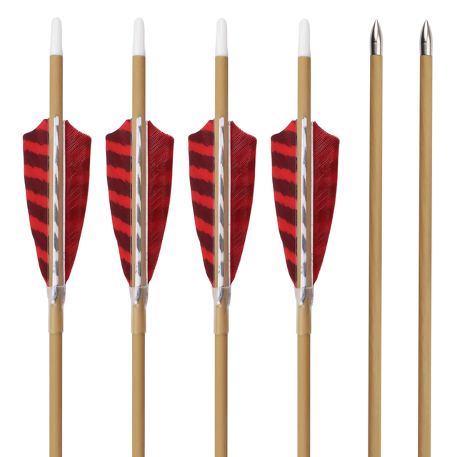 24Pcs Wood Camo Carbon Arrow 30″ ID4.2mm Spine 700 800 4″ Turkey Feather Fixed Bullet Point Archery Outdoor Bow Free Shipping