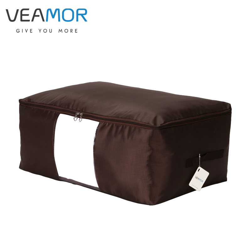 VEAMOR Oxford Fabric Under Bed Storage Bag Closet Organizer Space Saver Bag for Clothing Duvets Bedding