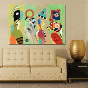 Handmade Wassily Kandinsky Geometric Abstrac wall Wall Paintings Canvas Art Paintings For Living Room Home Decor