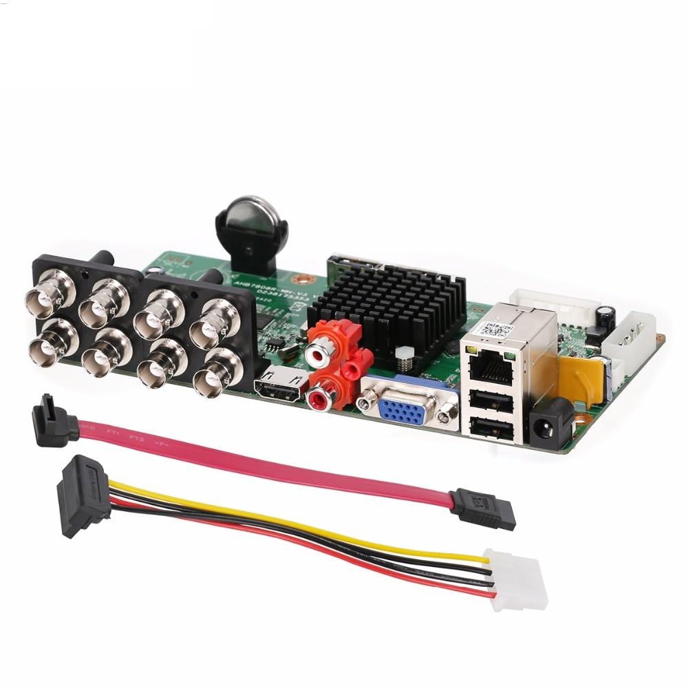 5 в 1 8 каналов 1080N аналоговая камера видео рекордер доска 8CH DVR гибридная NVR плата для 2MP аналоговая AHD CVI TVI IP камера