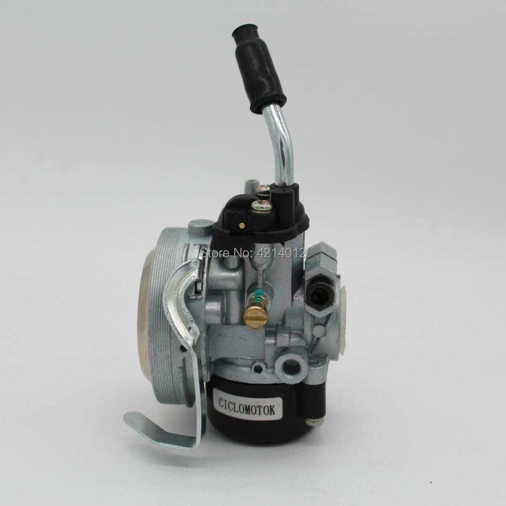 High Performance Racing 19mm Carb <font><b>Carburetor</b></font> Carby for 49cc 50cc 60cc <font><b>80cc</b></font> Motorized Bike 2 Stroke Motorcycle Parts image