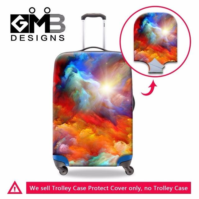 Dispalang marca projeto elástico grosso bagagem tampas de proteção contra poeira para 18-30 polegada mala trolley caso pintura a óleo chuva cobrir