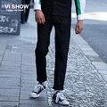 VIISHOW Agujero Jeans de Mezclilla Azul Pantalones Largos de la Marca Hombres Casual Jeans de Algodón para Hombres Ropa 28-40 NC63551