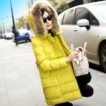 Latest Winter Fashion Women Down jacket Fur collar Hooded Thickening Warm Cotton Coat Big yards Slim Medium Long Coat G1914