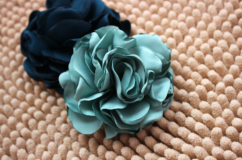 (30pcs/lot) 3.2 Burned Satin Flowers, Handmade Singed Flowers For Wedding Dress and Hair Accessories