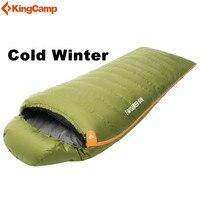 KingCamp зима утка вниз Сверхлегкий 220 см спальный мешок для наружных походы спальный мешок Кемпинг Пеший Туризм
