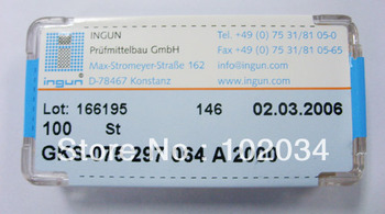 100PCS/LOT 100% ORIGINAL INGUN  GKS075-297-064 GKS075-297 064 A 2000 Spring Test Probe Pogo Pin made in Germany