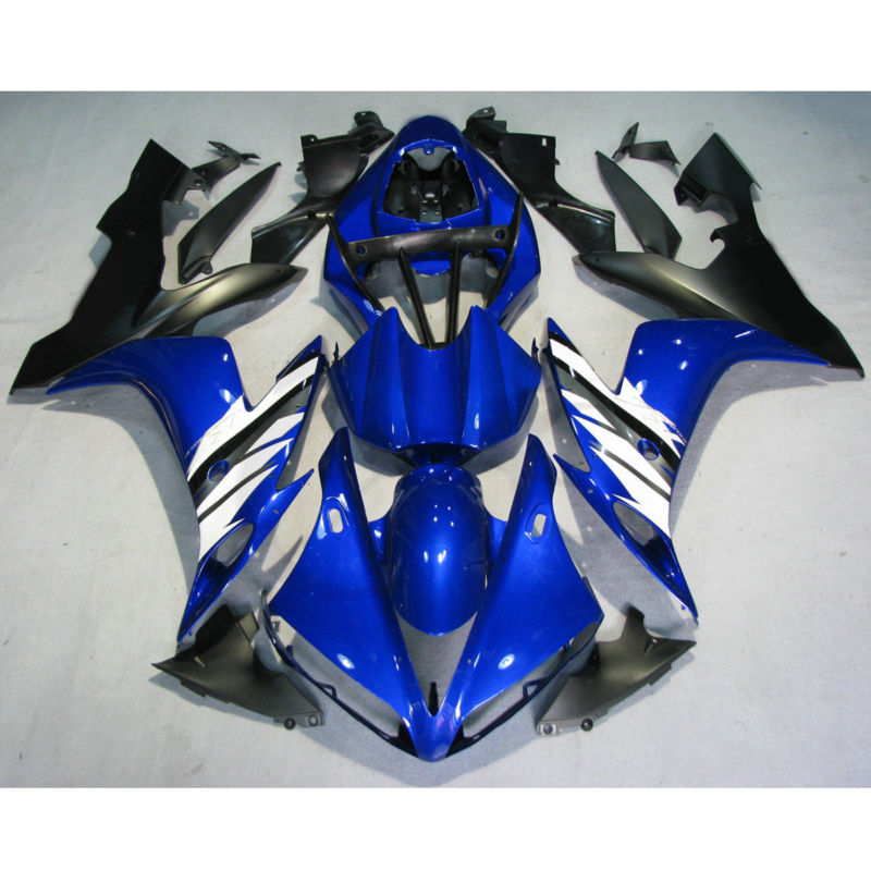 Прессформа впрыски обтекатель кузова Комплект для Ямаха YZF R1 и YZF-Р1 04-06 05 синий белый на продажу