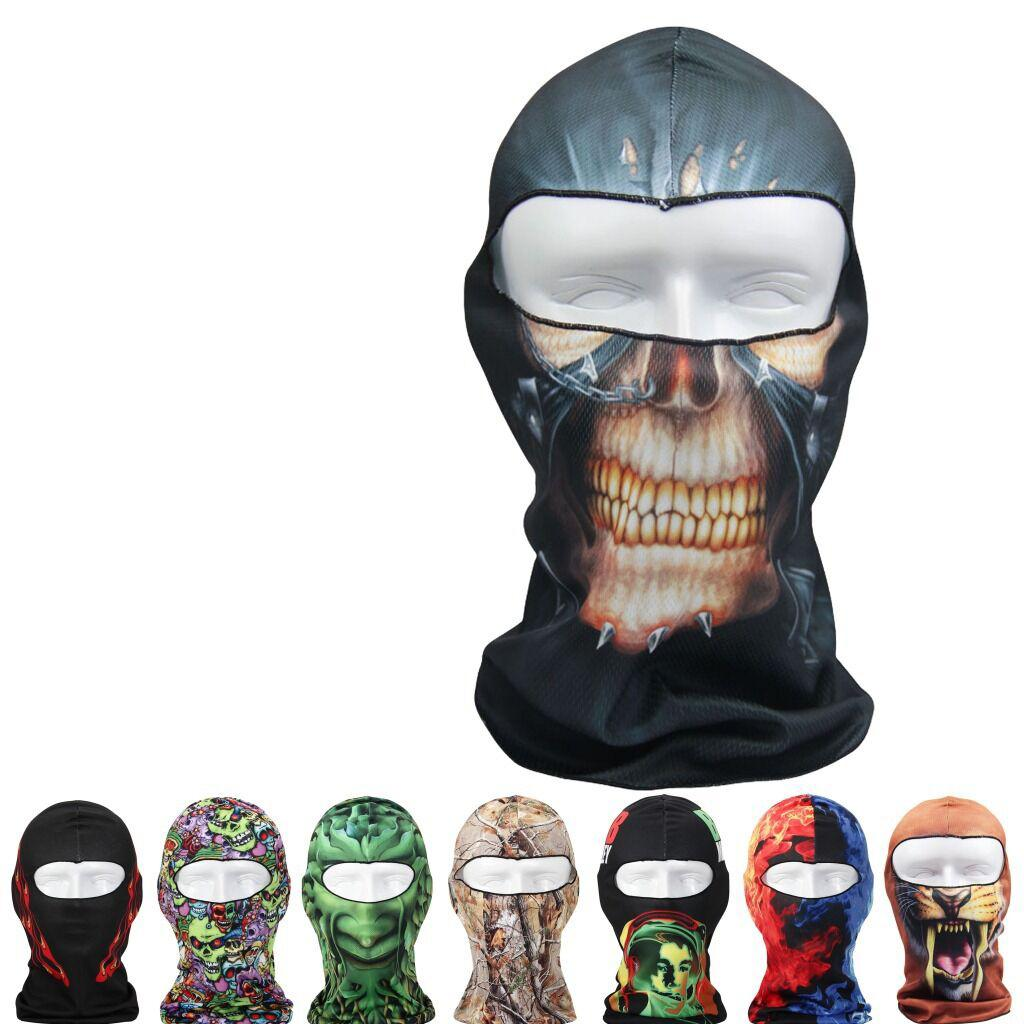 New 2017 Sports Bicycle Cycling Motorcycle Masks 3D Animal Active Outdoor Ski Hood Hat Veil Balaclava UV Protect Full Face Mask topeak outdoor sports cycling photochromic sun glasses bicycle sunglasses mtb nxt lenses glasses eyewear goggles 3 colors