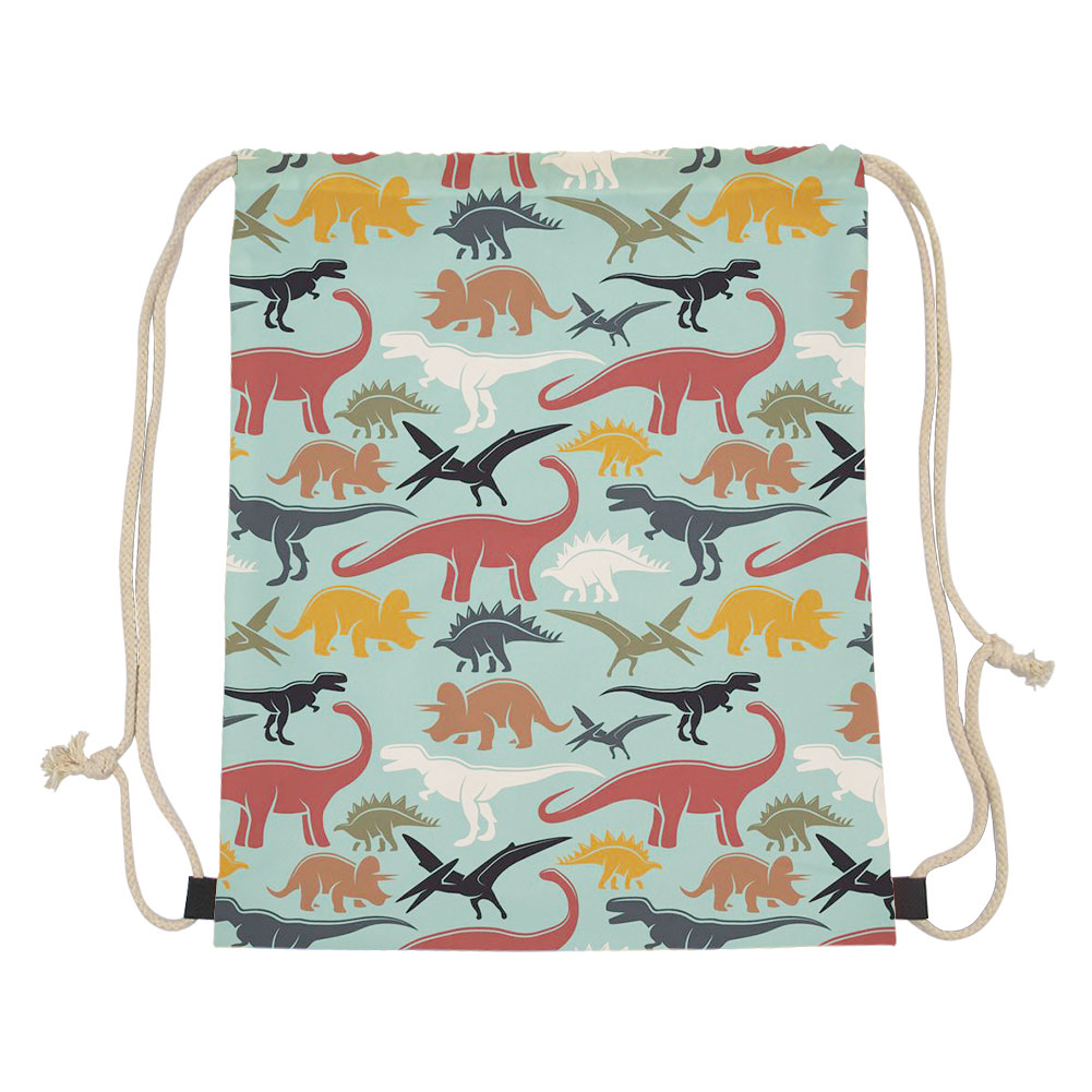 Theme Dinosaur Drawstring Bag Women Travel Pouch Beagles Dinosaur Prins Small Bagpacks Mochilas Storage Dust proof