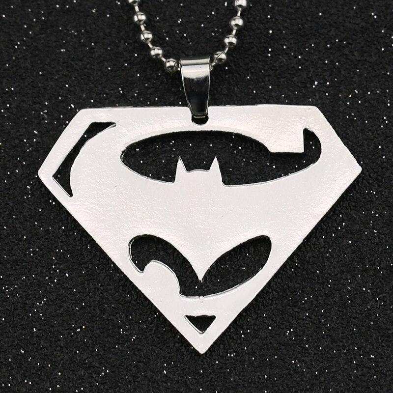 Batman V Superman Dawn of Justice Necklace Superhero Logo ...