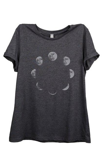 women t-shirt  Moon Phases fashion t-shirts