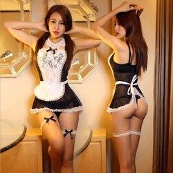 Maid Uniform Kostüme Rollenspiel 2016 Frauen Sexy Lingerie Hot Sexy Unterwäsche Schöne Weibliche Weißer Spitze Erotische Kostüm 25