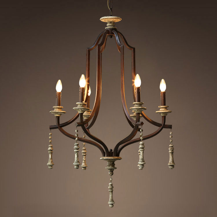 10 Off Thanksgiving American French Rural Vintage Iron Lamps Jarvis Wood Chandelier On Aliexpress Alibaba Group