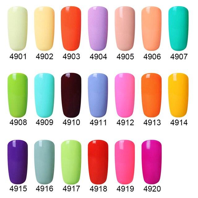 Elite99 10ml Macaron Farben Gel Nagellack UV LED Maniküre Nagel Lack Tränken Weg Von Candy Farbe Nail art Design gel Polnisch