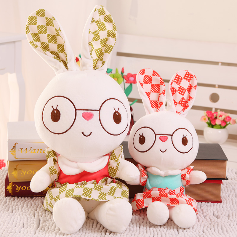 Rabbit doll plush toy Large dolls skirt rabbit pillow dolls birthday gift girls 60cm new queen couple rabbit plush toy of peter rabbit doll wearing glasses rabbit doll valentine s day gift