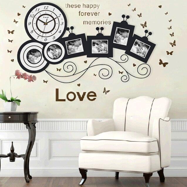 Moderno moda creativo reloj de pared sala de estar - Relojes decorativos de mesa ...
