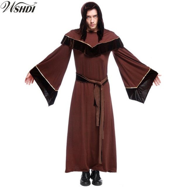 Adult Mens Halloween Costumes Adult Gothic Wizard Cosplay Priest Costume European Religious Priest Robe Uniform  sc 1 st  AliExpress.com & Adult Mens Halloween Costumes Adult Gothic Wizard Cosplay Priest ...