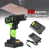 21V Electric Hammer Rechargeable Wireless Mini Electric Drill Bit Multifunctional Electric Screwdriver Torque Drill 2 Batteries